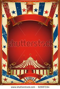 Nice Vintage Circus Background With Big Top. A Retro Circus Poster For Your Advertising. Stock Vector 92687194 : Shutterstock
