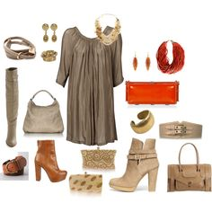 Little taupe dress...let me count the ways :-)