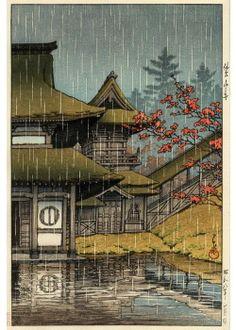 [Hasui Kawase, 'Yamano Tera, Sendai', 1933]