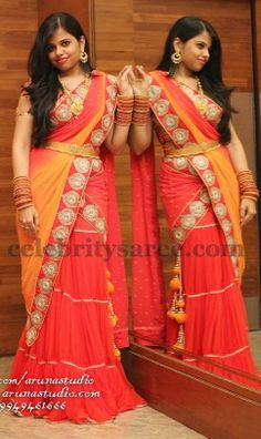 Pleats Half Saree by Surekha | Saree Blouse Patterns
