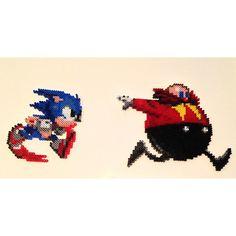 Sonic Eggman perler bead sprite by phillygeekmafia