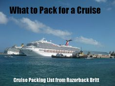 What to pack for a cruise. GREAT ideas!   should i ever decide to ever go on a cruise