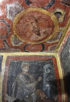 Paul in early Christian catacombs Early Christian, Christian Art, Ancient Rome, Ancient Art, Tempera, Fresco, Paul The Apostle, Roman History, Art History