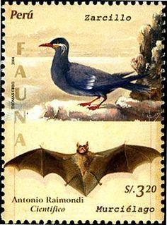carlopeto's Stamps - PERU 2005 flying bat