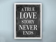 A True Love Story - Personalized Gift for him, husband, boyfriend, Wedding, engagement, Modern Original Gifts Under 25. $15.00, via Etsy.
