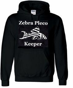 Zebra Pleco Keeper Hoody Sweatshirt