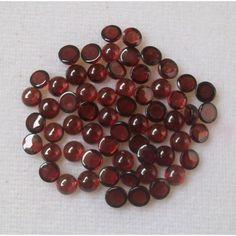 2MM Natural Red Garnet Round Cabochons Flat Back Loose Tiny Gemstone Cabs 100pcs