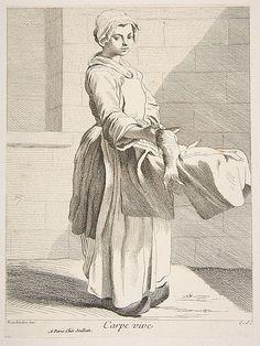 Fish Vendor Anne Claude Philippe de Tubières, Comte de Caylus  (French, Paris 1692–1765 Paris)