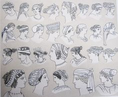 Ancient Greek women wore their hair long and had a preference for it to be golden. This was achieved by using a vinegar solution that bleached the hair in the sun, or a yellow flower dye