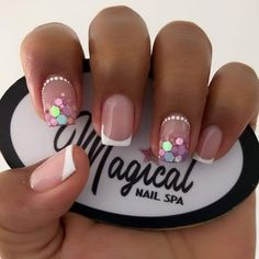 Latest Nail Designs, Nail Art Designs Videos, Dope Nails, Bling Nails, Cute Acrylic Nails, Gel Nails, Precious Nails, Flower Nails, Natural Nails