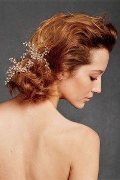 Dewed Vines Hairpin, so cute for bridesmaids at a garden wedding!
