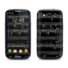 Music Notes - Samsung Galaxy S3/S4/S5 Phone Skin Decal Cover and Samsung Galaxy Note 2/3 Phone Skin Decal Cover