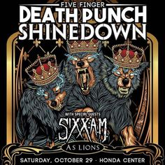 Anaheim CA! Its your turn to see #Shinedown #5FDP...