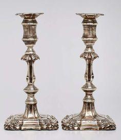 """Paar Leuchter, Birmingham 1900Sterlingsilber. Beschau Birmingham, Jahresbuchstabe """"a"""" (f. 1900), Mei — Silber"""
