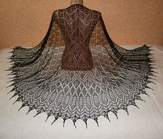Sorceress Winter pattern by Alla Borisova - Stola Stricken Crochet Shirt, Cute Crochet, Beautiful Crochet, Crochet Vests, Crochet Cape, Shawl Patterns, Lace Patterns, Knitting Patterns, Summer Knitting