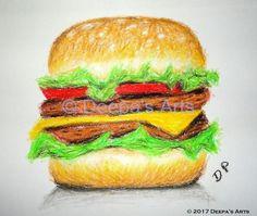 How to oil pastel a hamburger:  https://www.youtube.com/watch?v=S5sHGscFkM4