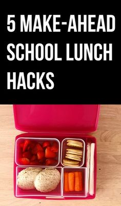 5 Easy Make-Ahead School Lunches >> https://www.facebook.com/HGTV/videos/10153793845724213/