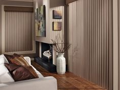 Taupe-colored Walls and Window Treatments - Design Ideas by Window Designs By Diane in Lake Zurich, IL. Cadence Soft Verticals
