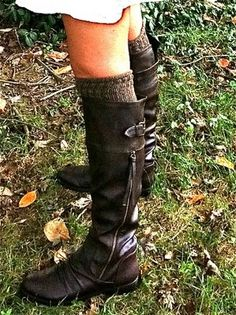 pictures of cute knee high boots | tall boots with over the knee socks. Adore in this dark rich leather ...