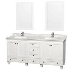 Wyndham Collection Acclaim White 72-inch Double Vanity - Overstock™ Shopping - Great Deals on Wyndham Collection Bathroom Vanities