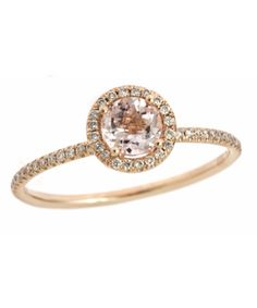 Meira T Diamond and Morganite Ring - Max and Chloe