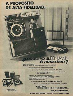 Radios, Cassette, Musical, Vintage Ads, Spanish, Technology, Multimedia, Flowers, Design