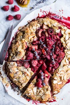 Celebrate spring with this simple and delicious Lavender Honey and Raspberry-Rhubarb Galette from halfbakedharvest.com