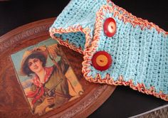Cowgirl Neck Scarf  Light Turquoise Aqua by NopalitoVintageMore, $25.00