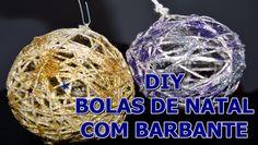 DIY Bolas de Natal com barbante  | Unindo Ideias