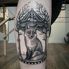 Suflanda instagram tattoo #carousel #fox