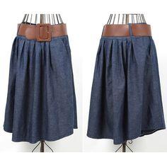 Knee Length Blue Jean Skirts