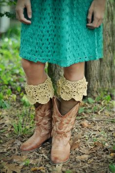 Hand crocheted boot socks!   www.ida-clair.com to find a retailer near you!