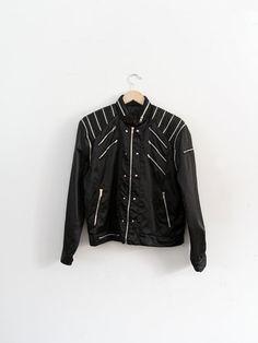 Vintage Sergio Valente Jacket / 1980s Black Zipper Jacket on Etsy, $250.00