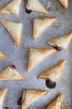 3-Ingredient Brie and Cranberry Phyllo Turnovers Recipe...58 calories and 2 Weight Watchers PP   cookincanuck.com #appetizer