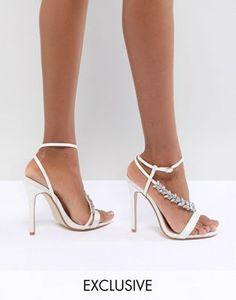 34dff041e00e45 Be Mine Bridal Lila Ivory Satin Embellished Sandals Fashion Flats