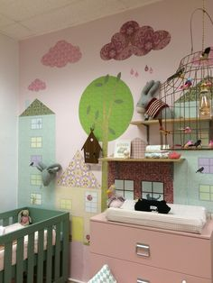 Wallpaper By INKE in our showroom in Leiden Eyecatcher for your nursery or kidsroom