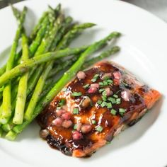 Pomegranate Soy Glazed Salmon — Tastes Lovely