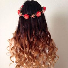 The Latest Brown Ombre Hair Colors at Blog.vpfashion.com The top color of the style is about dark brown, the middle&bottom part is about light auburn and beeline honey. A flower headband adds a chic look to the whole appearance. soft brown ombre curls and attractive ombre hair colors