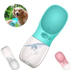 Portable Dog Water Bottle This water dispenser will keep you and your dog hydrated wherever you go. Different bottles available for any size dogs. Shop online today for this Portable Dog Water Pet Bottle! Pet Water Bottle, Bottle Bottle, Travel Water Bottle, Water Bottles, Dog Gadgets, Dog Items, Dog Supplies, Dog Care, Dog Grooming
