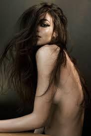 top less long hair model