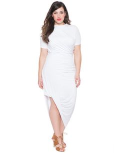 Draped Jersey Dress from eloquii.com