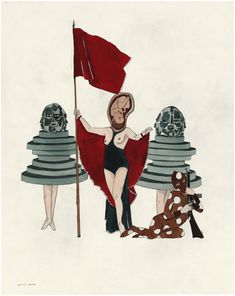 Marcel Dzama | The Queen and her Rooks (2012) | Available for Sale | Artsy