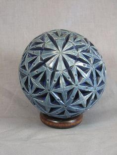 Blue/Indigo Carved Sphere