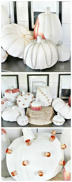 DIY Industrial Chic Pumpkins - Fun take on diy pumpkins using unconventional items from the hardware store.