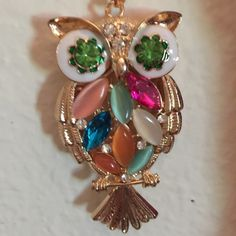 Betsy Johnson necklace Beautiful owl with multi-colored jewels Betsey Johnson Jewelry Necklaces