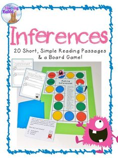 Are your primary students making inferences?  They might enjoy this fun board game that also comes with 20 short reading passages!  These are great for 1st grade or 2nd grade students.
