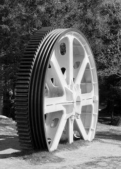 The old Fløy banen, power wheel. by bards.portfolio, via Flickr