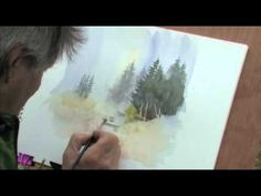 The Vanishing Landscape with David Bellamy - one of my favorite artists. Like most artists (I believe) he thoroughly love nature and all that it provides for us. Watercolor Video, Watercolor Painting Techniques, Watercolour Tutorials, Painting Videos, Painting Lessons, Watercolor Landscape, Watercolour Painting, Painting & Drawing, Watercolors