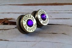 Items similar to bullet earrings purple crystal studs bridesmaid gift camo wedding hunter diamond on Etsy Camo Wedding, Purple Wedding, Dream Wedding, Wedding Fun, Wedding Stuff, Wedding Ideas, Jewelry Accessories, Unique Jewelry, Jewelry Ideas