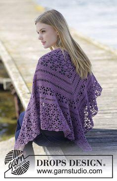 Evening In Paris Shawl By  DROPS Design - Free Crochet Pattern - (garnstudio)